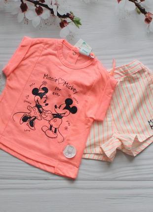 Літній комплект із футболки та шорт для дівчинки