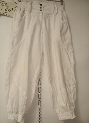 Лен хлопок саруэл свободные штаны на резинках
