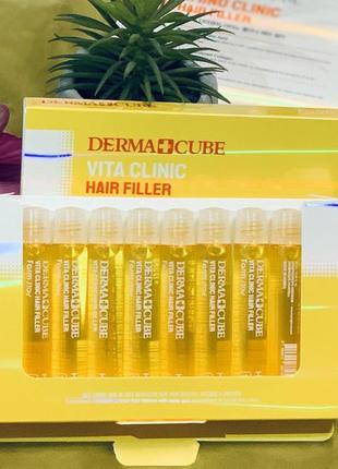 Питательный  филлер  для волос farmstay derma cube vita clinic hair filler - 13 мл