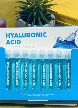 Увлажняющий филлер  для волос farmstay hyaluronic acid super aqua hair filler - 13 мл