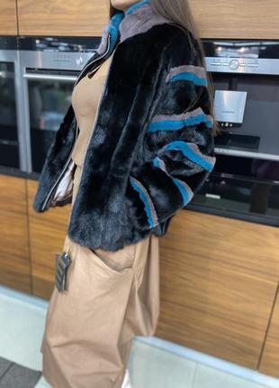 Новинка 2021. очень стильный полушубок-куртка из скандинавской норки. цельная греция