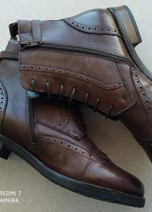 Кожаные деми оксфорды, челси, полусапоги, ботинки.