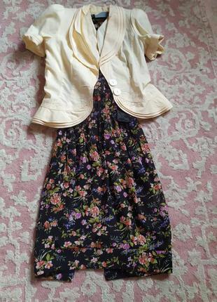 Плаття з укороченим жакетом