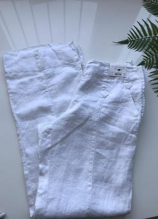 Льняные брюки штаны клеш