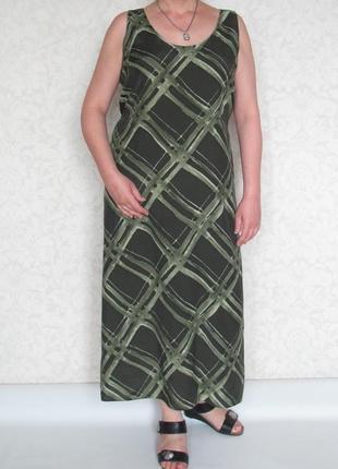 Длинное платье, marks & spencer. большой размер.