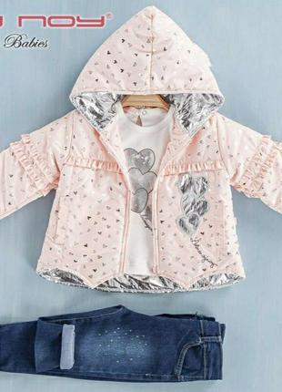 Стильный костюмчик для девочки с курточкой