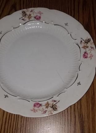 Фарфоровые тарелки столовые 6 шт из ссср