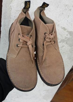 P.46 dr. martens (оригинал) замшевые ботинки.