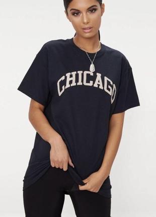 Длинная футболка plt chicago