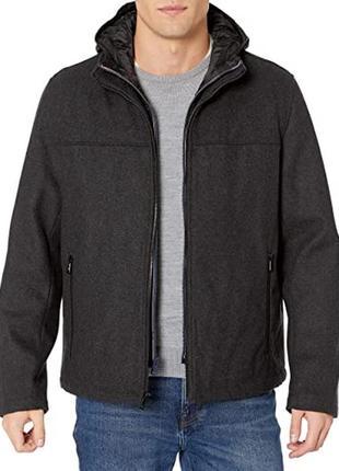 Стильная теплая шерстяная куртка с капюшоном tommy hilfiger jacket оригинал сша