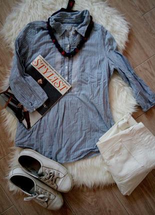 Рубашка в полоску marks&spencer