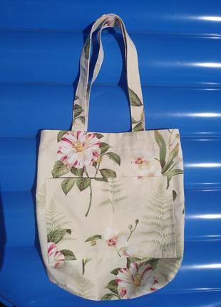 Екосумка пляжная сумка эко сумочка тканевая