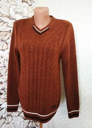 Мужской свитер, джемпер, пуловер, шерсть. 1+1= 50% скидки на 3ю вещь