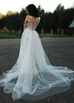 Роскошное свадебное платье4 фото