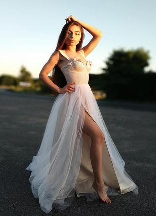 Роскошное свадебное платье5 фото