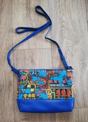 Яркая кожаная сумка crossbody bespoke7
