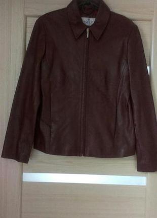 Натуральная кожаная куртка , бордовая