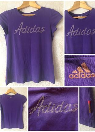 Спортивная фиолетовая майка футболка adidas