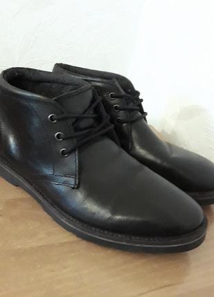 Шикарные кожаные ботинки chukka, 43-43,5, натуральная кожа,  easy