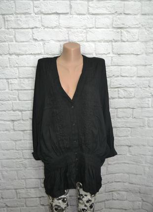 Рубашка н&м, l блуза черная блузка