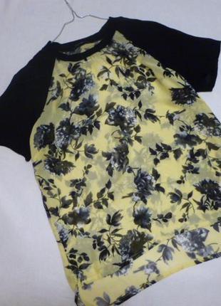 Крутецкая очень стильная шифоновая полу спортивная блуза футболка