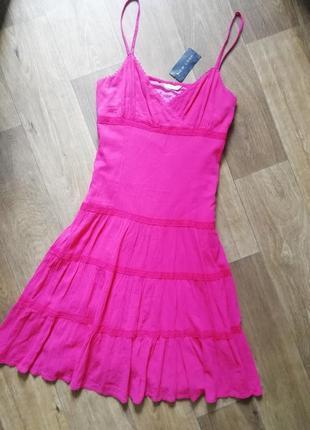 Котоновый сарафан, плаття, платье, сукня, с рюшами