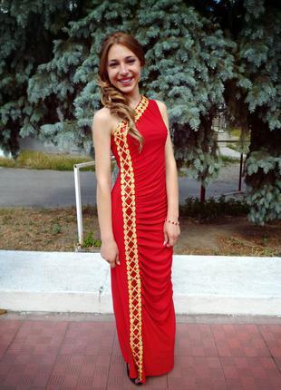 Длинное платье. ручная работа.