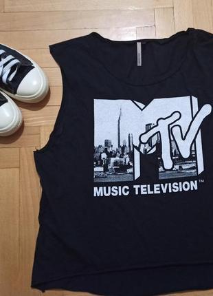 Крутая рокерская  футболка  с принтом mtv