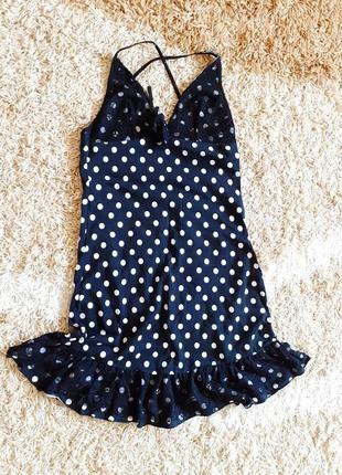 Платье для дома черное в горох