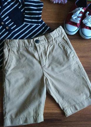 Шикарные хлопковые летние шорты h&m 4-5 лет.