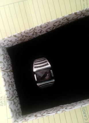 Стильное изысканное кольцо мужское султанит серебро 925, р 20,5 новое в упаковке.