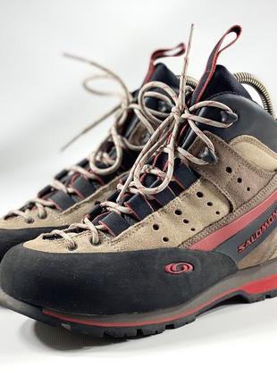 Фирменные замшевые ботинки salomon