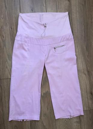 Розовые бриджи для беременных