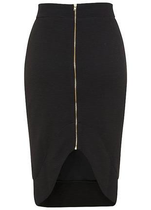 Фактурная юбка карандаш в рубчик miss selfridge.