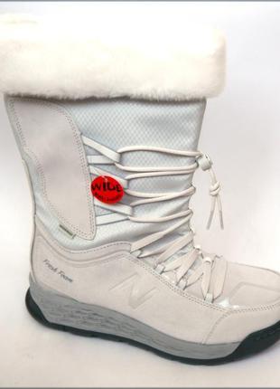 New balance 1000 зимние белые сапоги сапожки оригинал