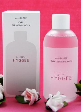 Увлажняющая мицеллярная вода hyggee all-in-one cleansing water