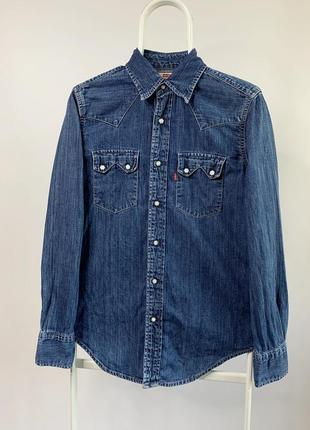 Оригинальная винтажная джинсовая рубашка levis