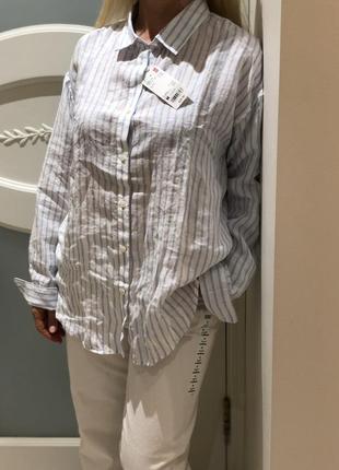 Uniqlo льняная рубашка новая