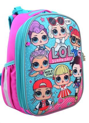 Рюкзак школьный каркасный  для девочки н-25 lol juicy yes