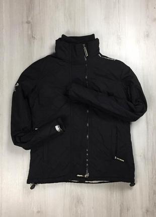 F9 женская ветровка на флисе superdry супердрю куртка черная теплая