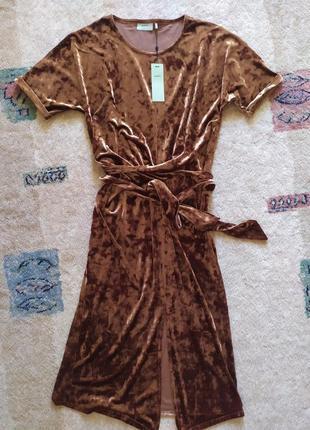 Бархатное платье minimum moves шоколадный мрамор