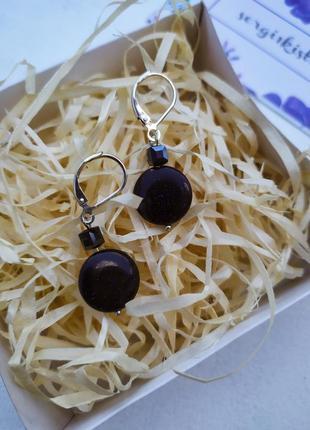 Серьги из натурального камня,серьги,серёжки