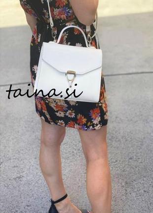 Белый базовый клатч david jones cm5706t white оригинал классическая сумка кроссбоди
