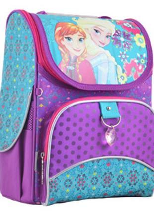Рюкзак школьный каркасный  для девочки yes h-11 frozen purple