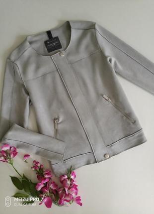Легкая фирменная куртка под замшу от немецкого бренда street one