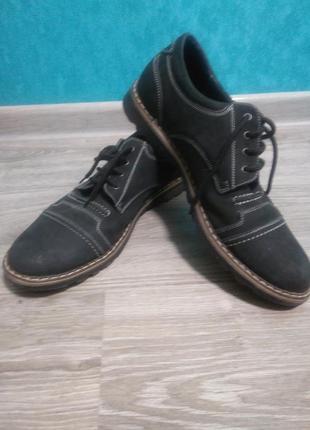 Мужские туфли из нубука