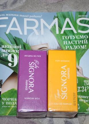 Новая женская парфюмированная вода signora ruby и signora topaz от farmasi, турция