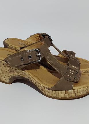 Gabor оригинал шлёпки босоножки сандалии на платформе размер 38 39