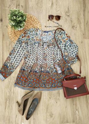 Шикарна легка блуза в етно стилі charles vogele