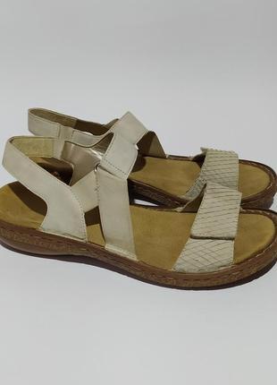 Rieker оригинал кожаные босоножки сандалии размер 38